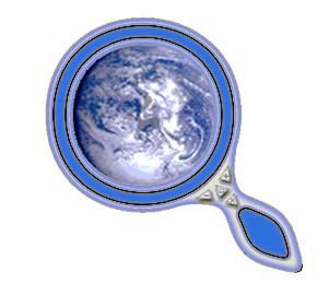 planète terre sous loupe